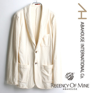 [ABAHOUSE/RECENCY OF MINE]Tuxedo Towel Jacket 아바하우스 화이트 코튼자켓