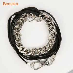 [Bershka] Cord and chain bracelets (set of 2)