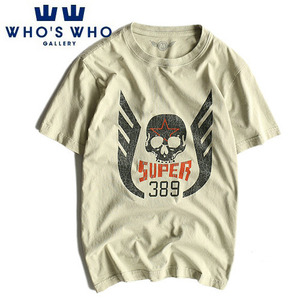 [WHO'S WHO] Skull 389 Vintage Washing S/S Tee 후즈후 빈티지워싱티