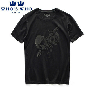 [WHO'S WHO] Knife Skull Vintage Washing S/S Tee 후즈후 빈티지워싱티