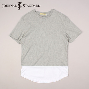 [JOURNAL STANDARD] Simple Half S/S Tee 저널스탠다드 배색티