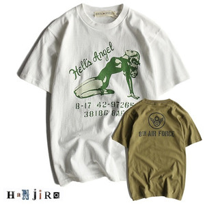[HANJIRO japan] OLDBLUE hells angel AIR FORCE T