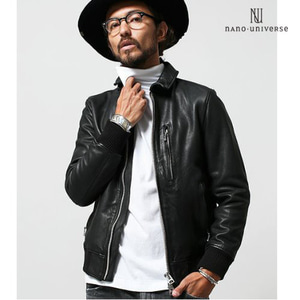 [nano universe/STOCK] BAND SINGLE RIDERS 밴드싱글가죽자켓