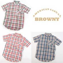 [BROWNY] broadcloth check shirts 브라우니 체크셔츠 M(국내95)